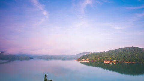 Time Lapse - Beautiful View of Sun Moon Lake, Taiwan - 4K Footage