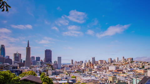 Time Lapse - Panning View of San Francisco City Skyline 4K Footage