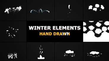 Winter Elements After Effects Template