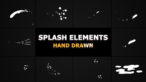 Splash Animated Elements After Effects Template