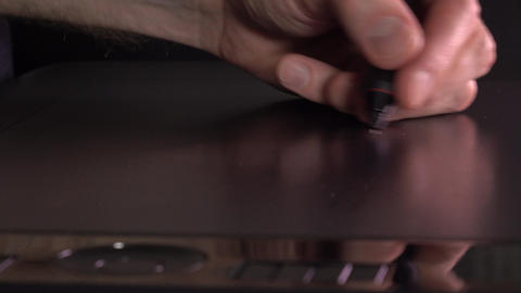 Designer working with drawing tablet for PC. 4K close up video Footage