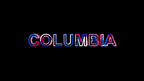 Letters are collected in State Name COLUMBIA, then scattered into strips. Bright Animation