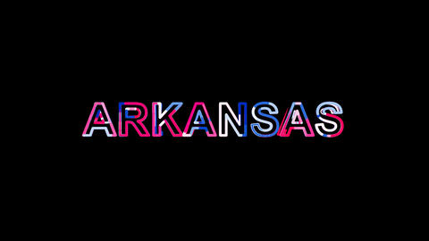Letters are collected in State Name ARKANSAS, then scattered into strips. Bright Animation