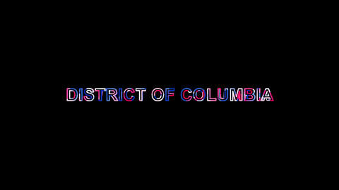 Letters are collected in State Name DISTRICT OF COLUMBIA, then scattered into Animation