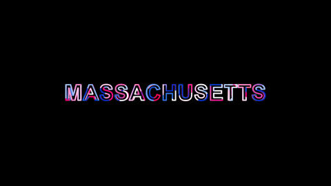 Letters are collected in State Name MASSACHUSETTS, then scattered into strips. Animation