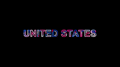 Letters are collected in state UNITED STATES, then scattered into strips. Bright Animation