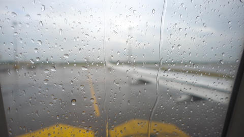 Before departure, rainy weather Footage