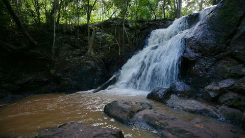 Waterfall in Karura Forest, Nairobi, Kenya Live Action