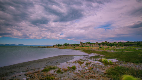 Time Lapse - Cloudscape over Mono Lake, California - 4K Footage