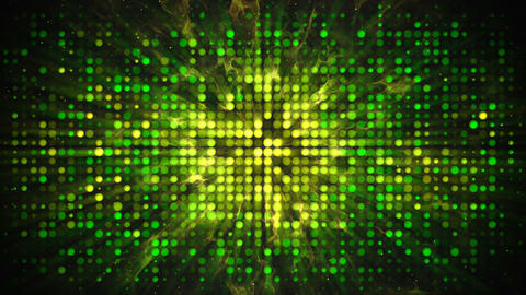 Green yellow disco wall with flashing lights abstract loopable Animation