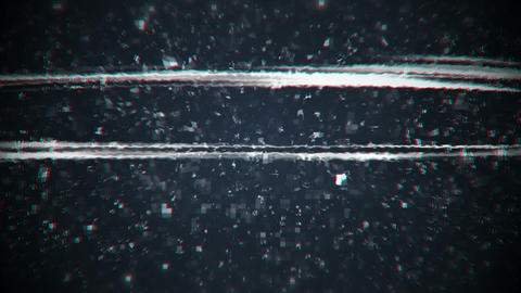 Grained and distorsed TV noise seamless loop animation Animation