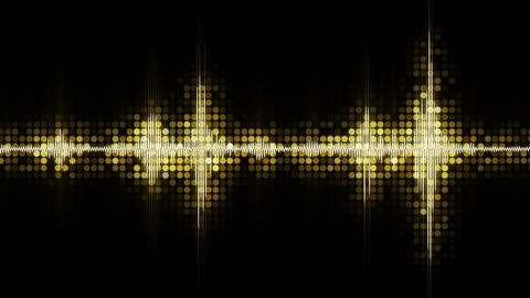 Yellow audio waveform equalizer festive loopable background Animation
