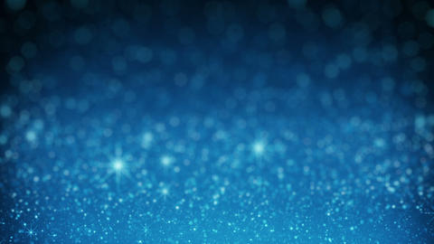 Blue glitter in light rays rendered with DOF seamless loop Animation