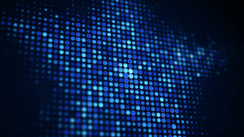 Blue star shape of pixels on screen seamless loop animation Animation