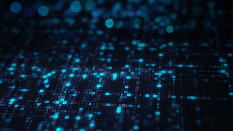 Blue hexadecimal big data digital code seamless loop animation Animation