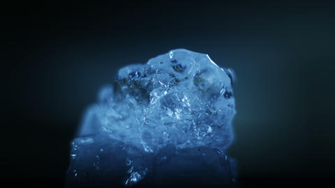 Melting ice close-up timelapse Footage