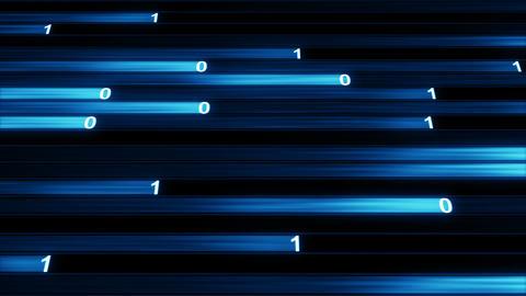 Digital binary data blue stream loopable animation Animation