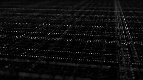 Cyberspace with blue multi layered grid seamless loop animation Animation