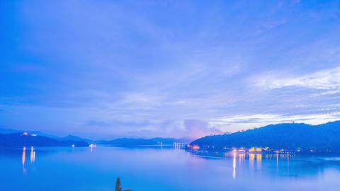 Time Lapse - Beautiful Night View of Sun Moon Lake, Taiwan 4K Footage