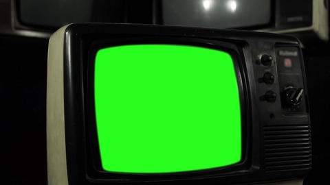Vintage Green Screen Tv Live Action
