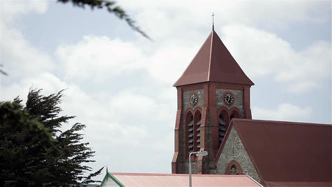 Christ Church Cathedral In Stanley, Falkland Islands (Malvinas) Footage