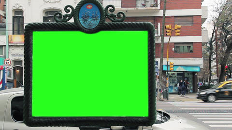 Billboard With Green Screen Live Action