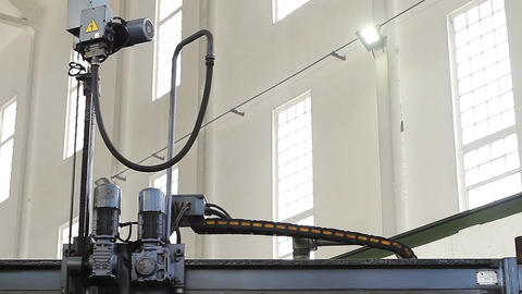 Robotic Production Process. Automated Industrial Robot GIF