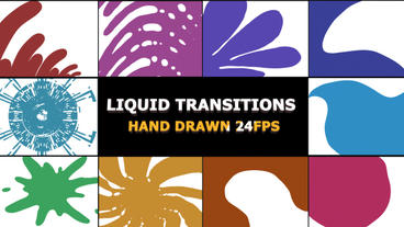 Hand Drawn Transitions After Effects Template