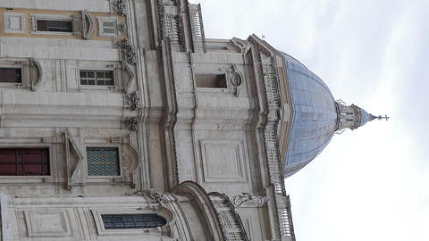 Vertical video. Basilica of St Mary Major. Piazza dell' Esquilino. Rome, Italy Footage