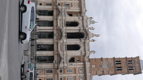 Vertical video. The column on the Piazza di Santa Maria Maggiore. Rome, Italy Footage