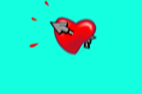 Heart stuck by arrow Animation