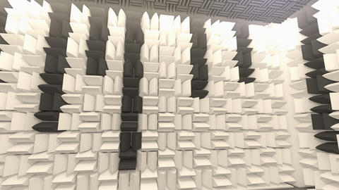 Sound proof room, anechoic chamber Animation