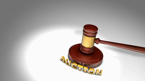 Gavel auction and bid Animation