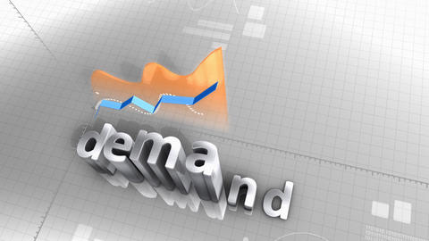 Demand growing chart, statistic, data, performance Animation