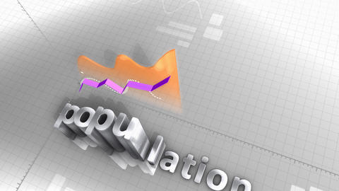 Population growing chart, statistic, data and performance Animation