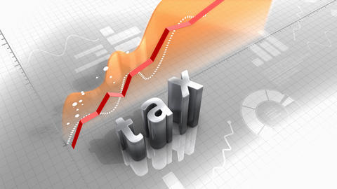 Tax growing chart, index and statistic Stock Video Footage