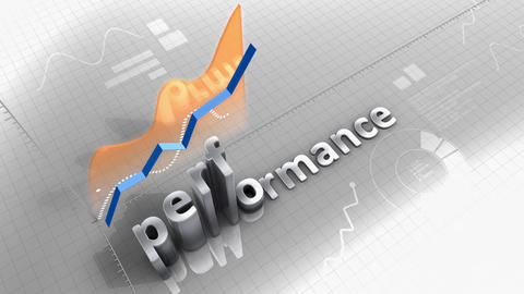 Performance growing chart, statistic, data and performance Animation