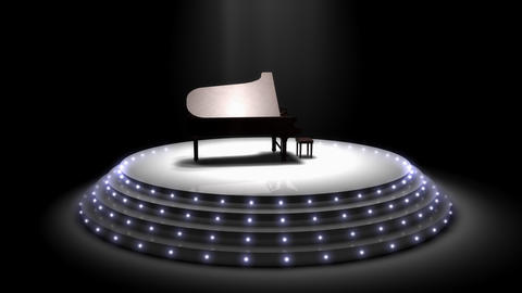 Majestic piano performance stage spotlights Stock Video Footage