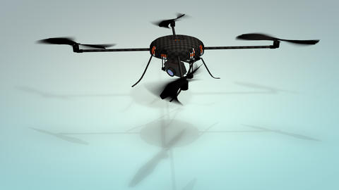 Drone technology, quadcopters Animation