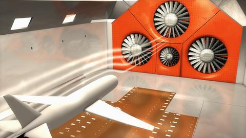 Aeroacoustics, wind tunnel Animation