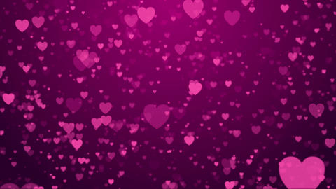 Heart love valentine day wedding anniversary abstract particles background loop CG動画素材
