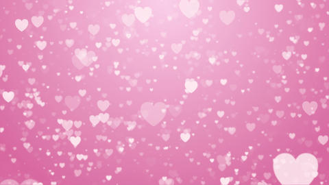 Heart love valentine day wedding anniversary abstract particles background loop Animation