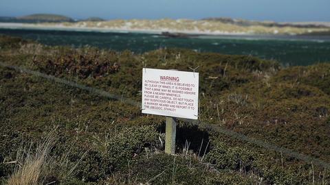 Falklands Landmines Suspect Area GIF
