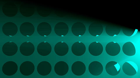 Abstract background with volumetric lights and spheres ライブ動画