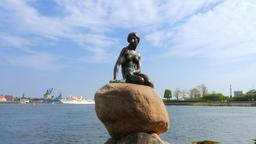 The Mermaid, sculpture in Copenhagen, Denmark Footage