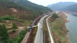 Classic Train run railroad at Goksung,South Korea,Asia when Dec-07-2016 Live Action