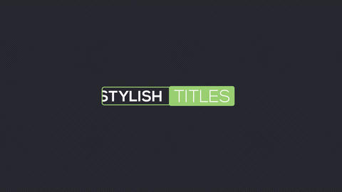 40 Line Titles After Effects Template