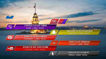 Media Social Lower Third After Effects Template
