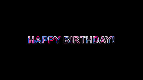 Letters are collected in congratulation HAPPY BIRTHDAY!, then scattered into Animation