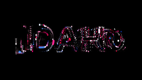 Letters are collected in State Name IDAHO, then scattered into strips. Bright Animation